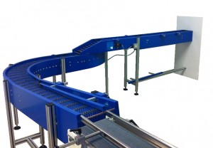 Curved Plastic Conveyor System