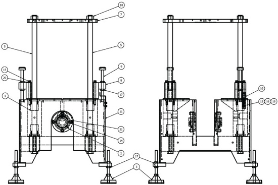 Trimmer Base Assembly Drawing View A