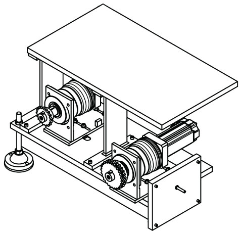 Trimmer Servo Drive Drawing View C
